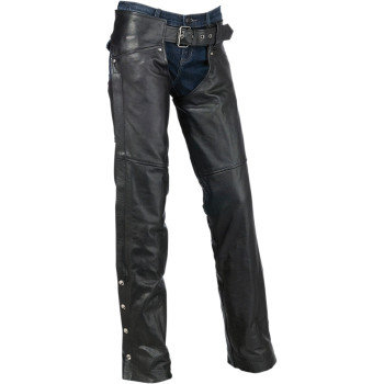 Women's Carbine Leather Chaps -MD