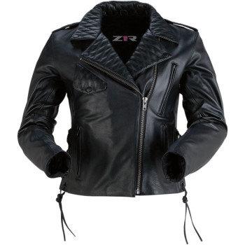 Women's Forge Black Leather Jacket -XL
