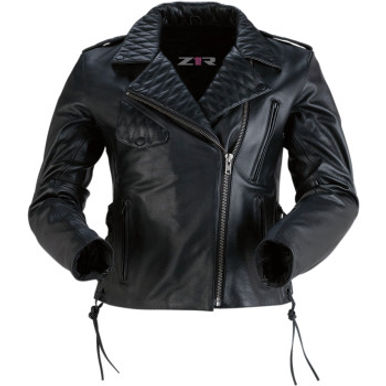 Women's Forge Black Leather Jacket -XL