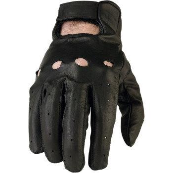Men's Black Leather Gloves #243 -3X
