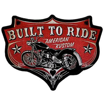 """Built To Ride American Kustom 5""""X4"""" Patch"""