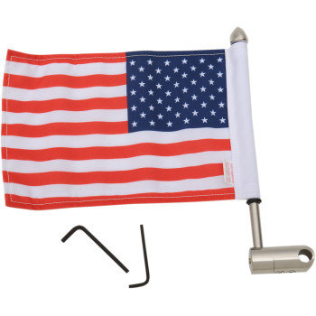 "Luggage Rack Flag Mount - 1/2"" Round - With 6"" X 9"" Flag"