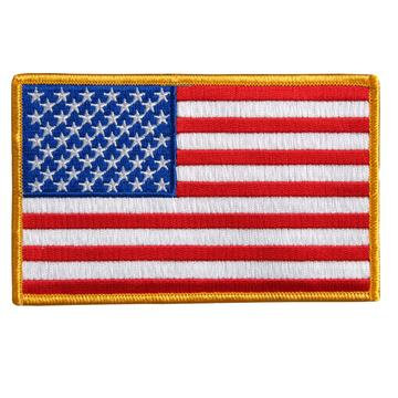 """10"""" X 6"""" American Flag Large Patch"""