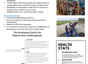 The Developing Rohingya Crisis- Parliamentary One Pager