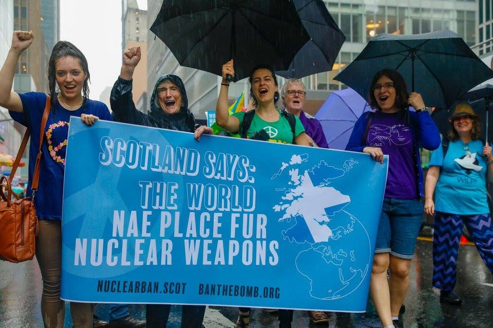 UNHS Interns participate in NYC Women's March Against Nuclear Weapons