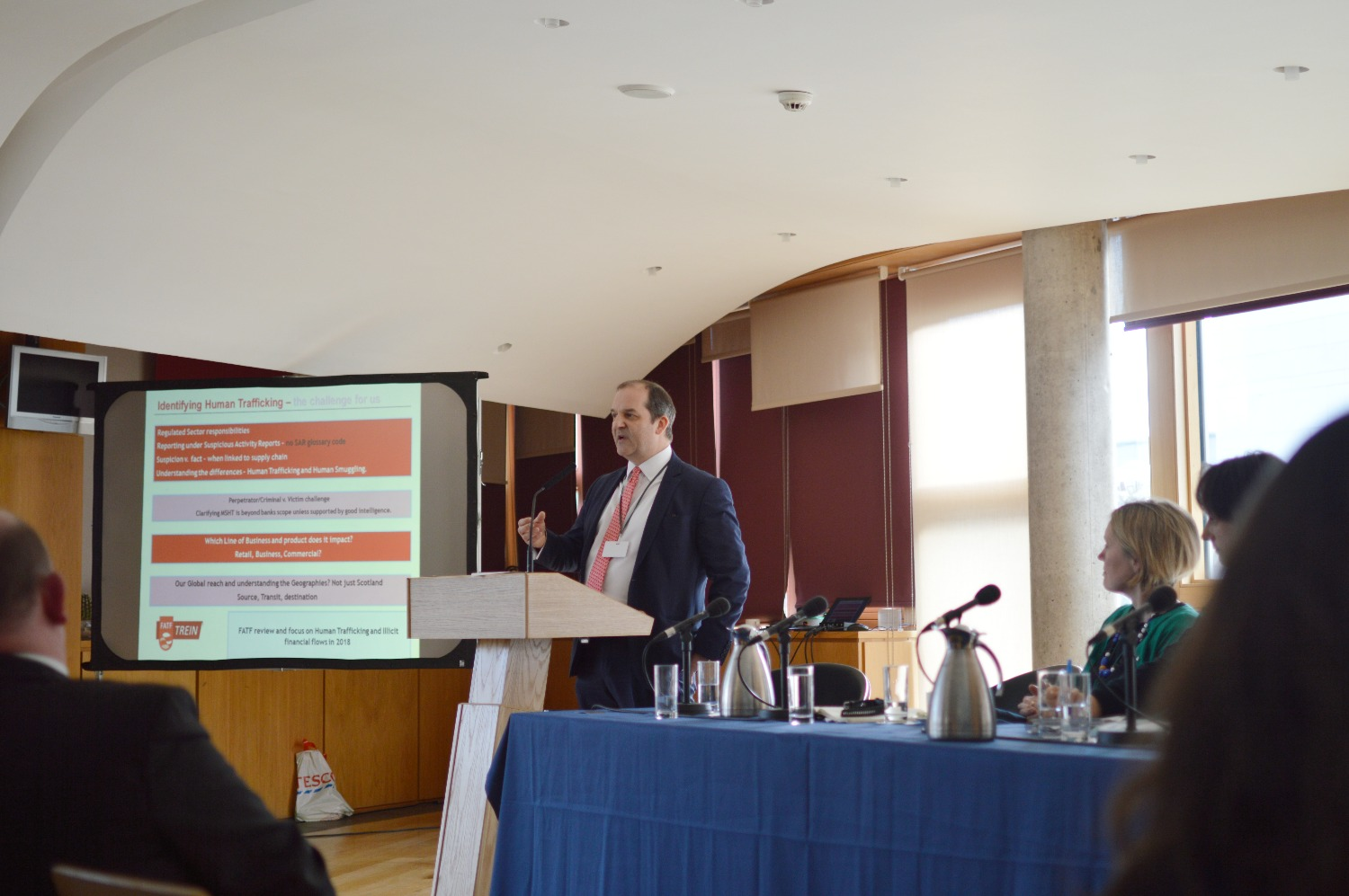 Jonathan Groom of HSBC shares his presentation on identifying trafficking in financial institutions.