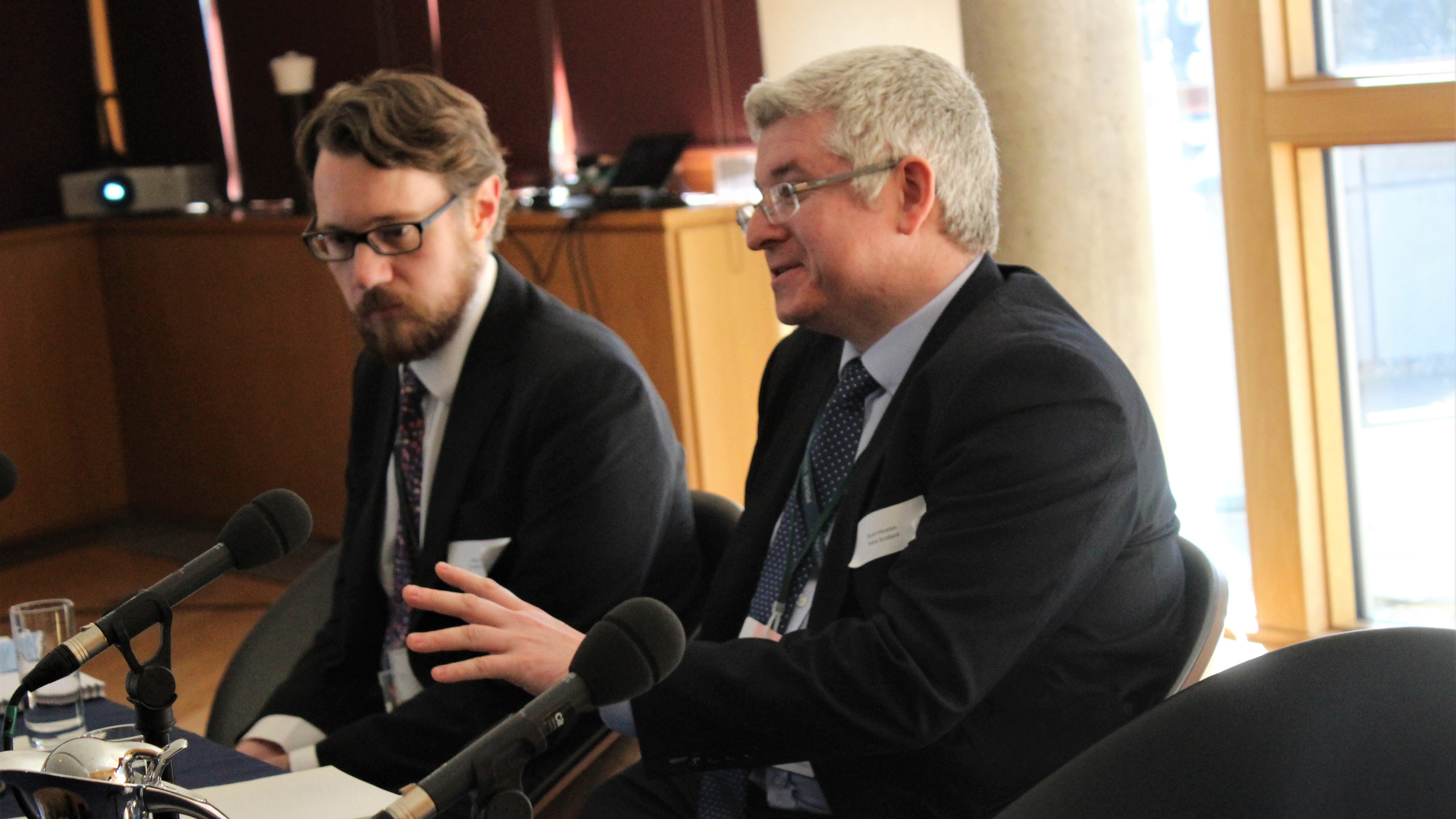 Peter Hope-Jones and Stuart Houston answer questions from the audience.