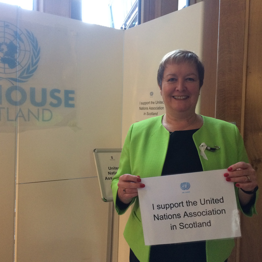 MSP Rhoda Grant shows her support for UNHS