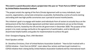 From Paris to COP26: Second Prequel Event