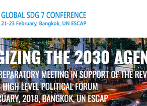 UNHS at the Global SDG 7 Conference