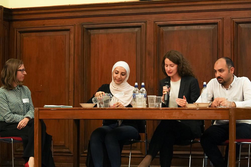 Left to right: Joanna Harlos (SCISA Project Manager), Lara Alshawawreh, Daria Vorobyeva, and Amer Masri