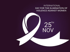 25th of November - International Day for the Elimination of Violence against Women