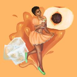 tea - peach - orange BG