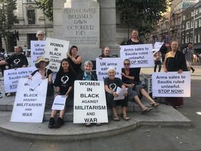 Women In Black vigil against UK arms sales to Saudi Arabia