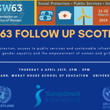 CSW63 Follow Up Event - Scotland