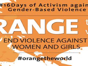 #16 Days of Activism against Gender Based Violence: 25 November – 10 December 2020
