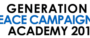 Now Accepting Applications- Generation Y Peace Campaigning Academy 2018
