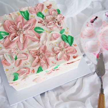 Hand Painted Buttercream Cake