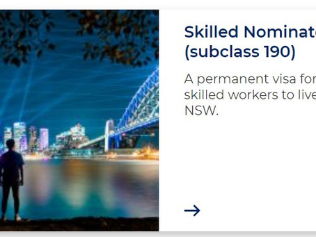Update NSW nomination for subclass 190