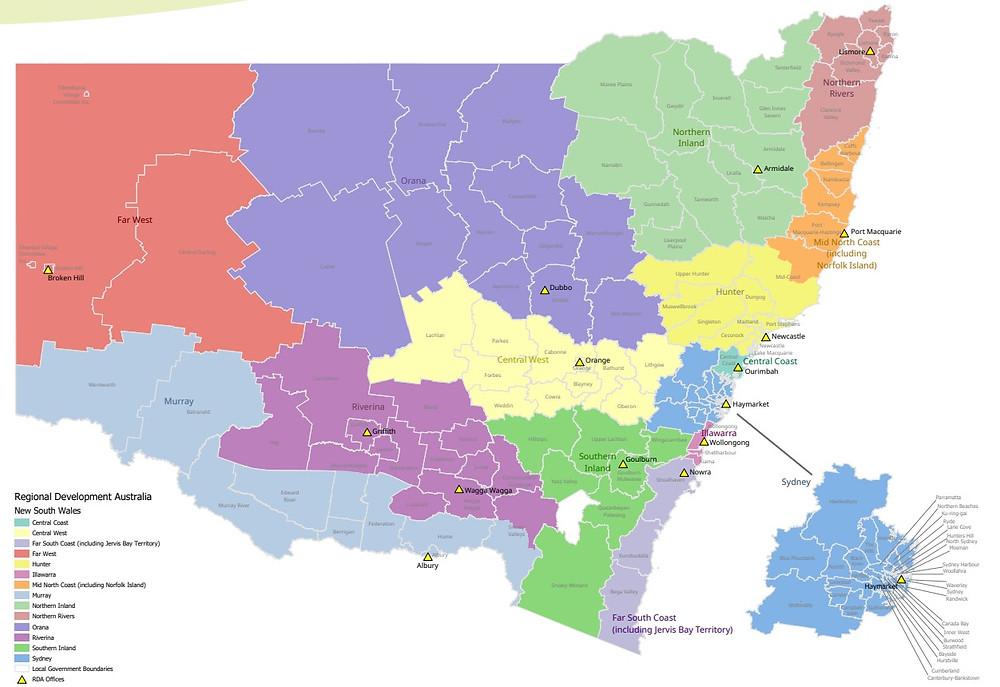 NSW's regional areas