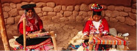 Peru ladies weaving