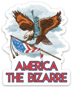 America The Bizarre Logo Sticker