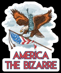 America The Bizarre Logo Sticker