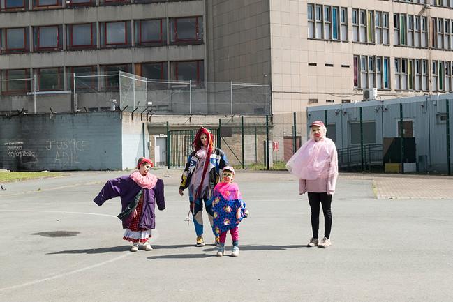 Mourning clowns, Cureghem Anderlecht, 29th of April 2020