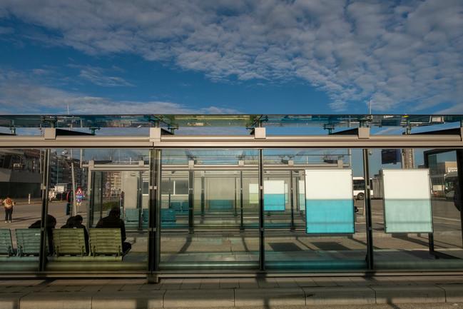 Bus shelter, November 2020