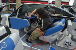 boat interior clean