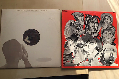 The Tubes 2xLP Lot:Outside Inside + Now ~ Glam New Wave