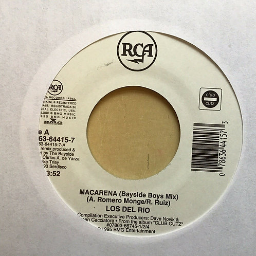 "LOS DEL RIO Macarena (Bayside Boys Mix) / Scatman John RCA 45 NM 7"" HEAR"
