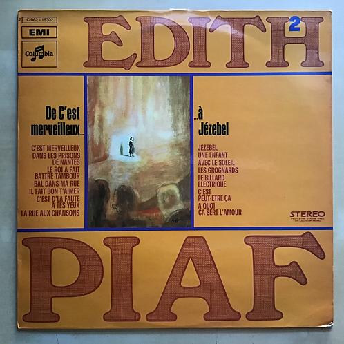 Edith Piaf Vol. 2 French Import LP