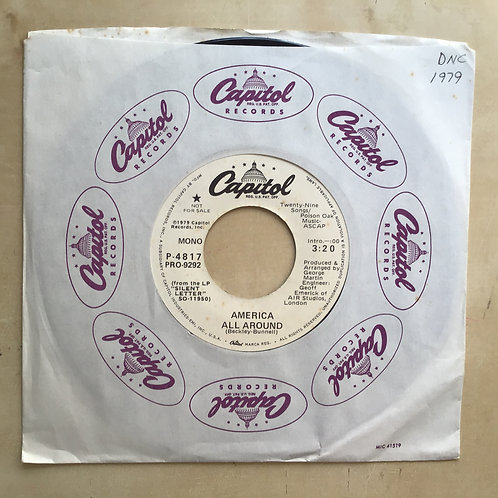 "America - All Around mono/stereo - U.S. promo 7"" vinyl"