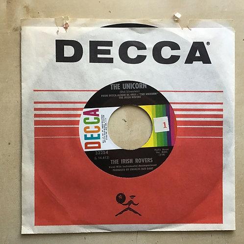 "The Irish Rovers ""The Unicorn""/ ""Black Velvet Band"" 45 on DECCA Label NM!"