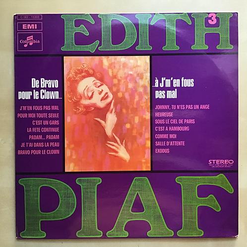 """Edith Piaf Vol.3 """"De Bravo Pour Le Clown..."""" Import LP"""