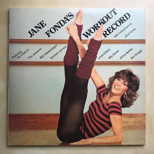 VINTAGE LP JANE FONDA'S WORKOUT RECORD 1981 THE WORKOUT, INC. CX2 38054