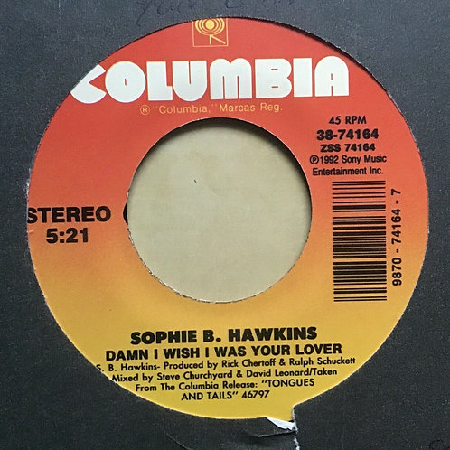 Sophie B. Hawkins Damn I Wish I Was Your Lover / Don't Stop 45 1992 Vinyl Record