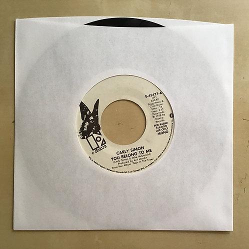 "Carly Simon - You Belong To Me 7"" EX Promo Elektra E-45477 USA 1978"
