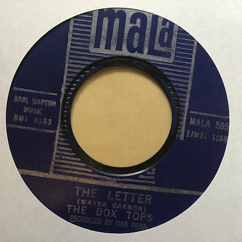 "The Box Tops ""The Letter""/ ""Happy Times"" 45 on MALA Label..60's Rock Tested"