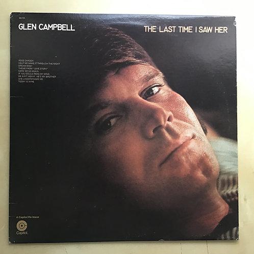 GLEN CAMPBELL The Last Time I Saw Her, Vinyl LP Rare reissue SM-733 EX
