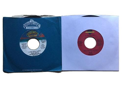 """Lot Of 2 Joan Jett 7"""" 45rpm Vinyl Singles I Love Rock N Roll & Little Liar"""