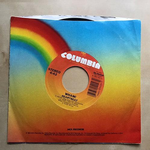 "WHAM - HEARTBEAT / FREEDOM - 7"" VINYL 45 RPM"