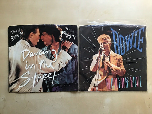 MICK JAGGER & DAVID BOWIE Dancing In The Street 45 Picture Sleeve & Modern Love