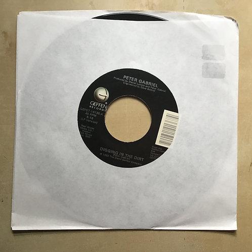 Peter Gabriel Digging In The Dirt / Quiet Steam 45 1992 Geffen Vinyl Record VG