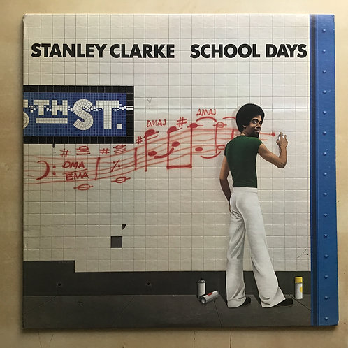 STANLEY CLARKE School Days 1981 LP reissue EPIC PE-36975 Steve Gadd EX