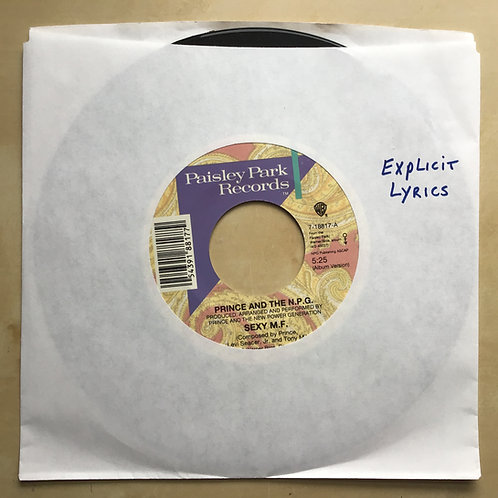 "7"" 45 Prince And The New Power Generation Sexy MF / Strollin Paisley Park"