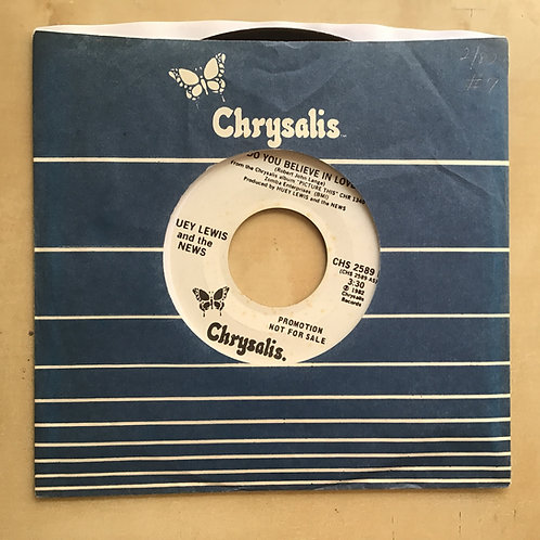 HUEY LEWIS Do You Believe In Love PROMO 45 Vinyl Record 1982