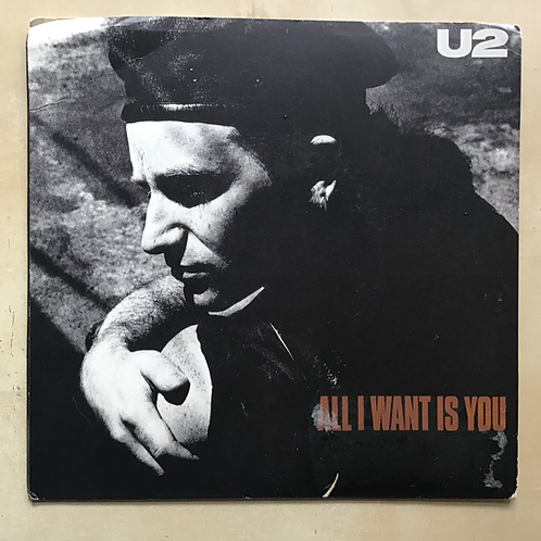 """U2 """"All I Want is You/Unchained Melody""""Picture sleeve 45"""