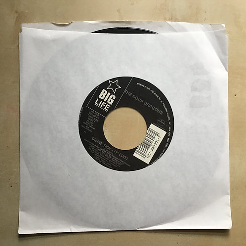 """The Soup Dragons - Divine Thing / Driving 7"""" 45 Vinyl Record 90s alternative"""